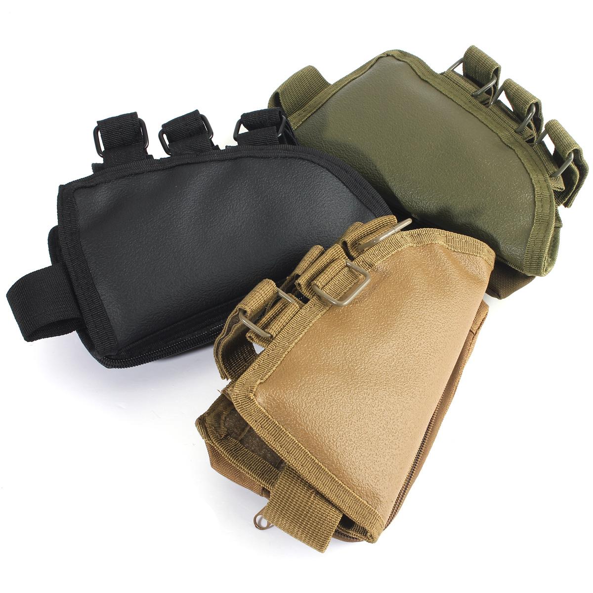 Hot Tactical Rifle Butt Stock Cheek Rest Shell Ammo Pouch