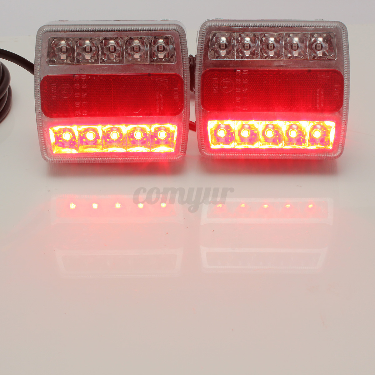 en led tail light a in trailer detail princess turn bar lights auto stop slim line