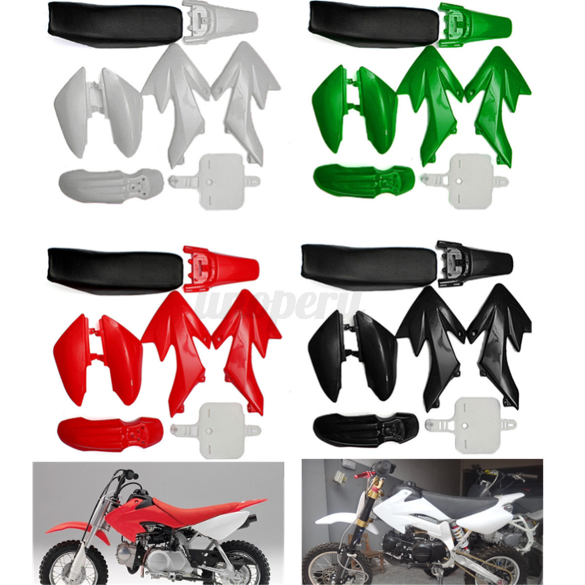 For Honda Crf 50cc 110 125 140cc Plastic 4 Stroke Pit Bike Mudguard 2006 Image Is Loading