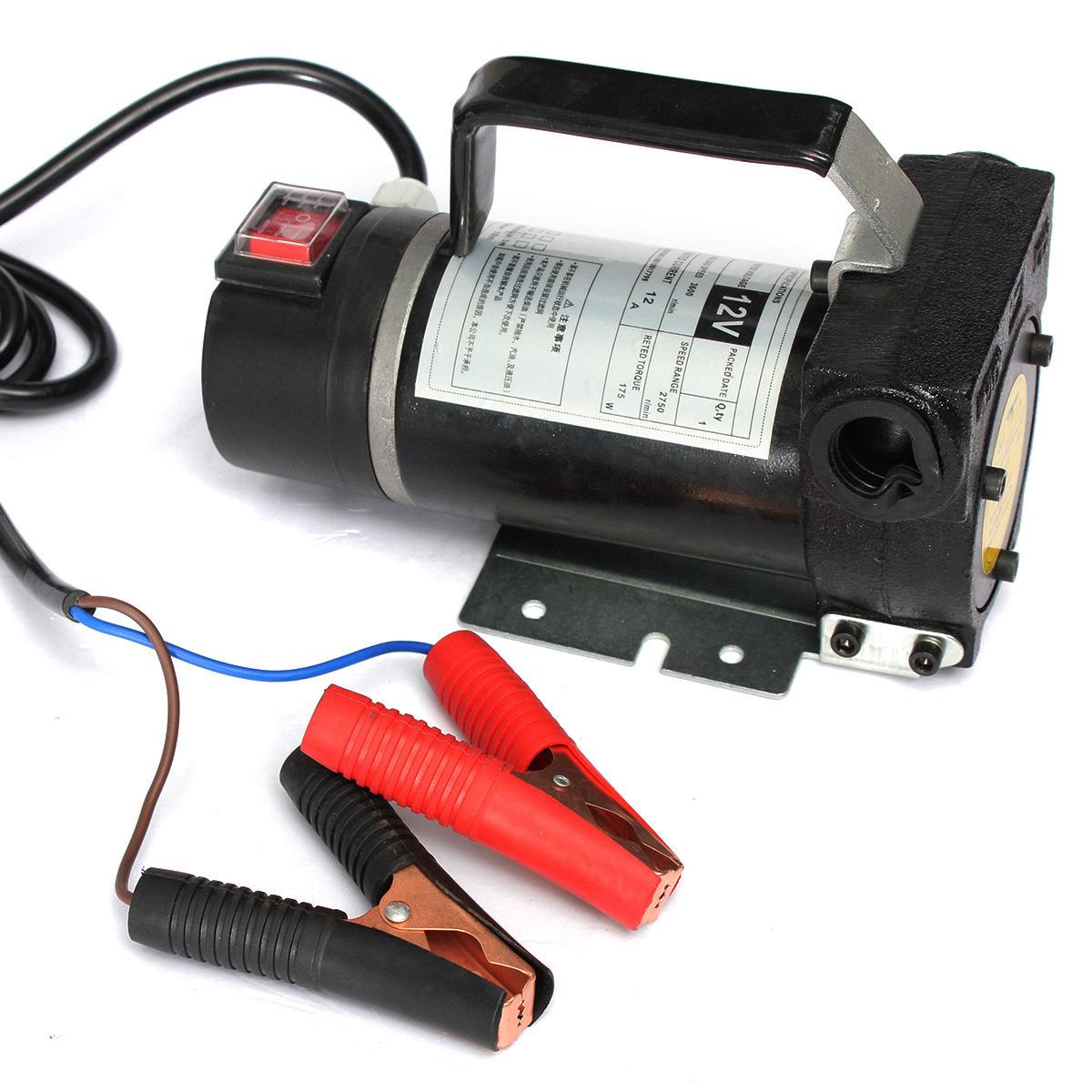 Portable Gas Pump : V portable fuel diesel pump oil transfer self