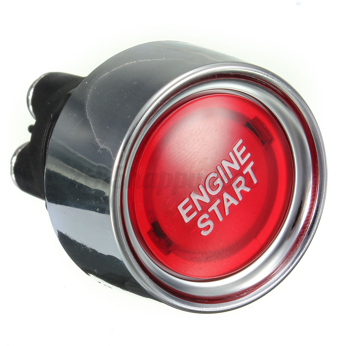 Push To Start Button Ignition: Universal Car Auto Red Engine Ignition Button Starter Push