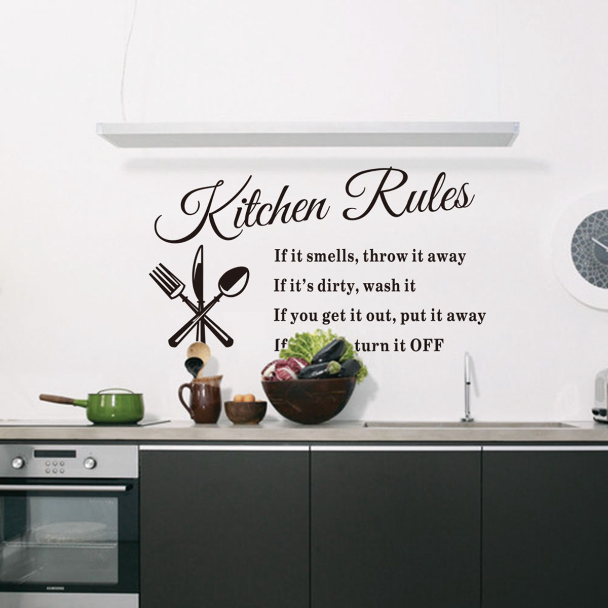 Diy Home Decoration Wall Decals : Diy removable art vinyl quote wall sticker decal home