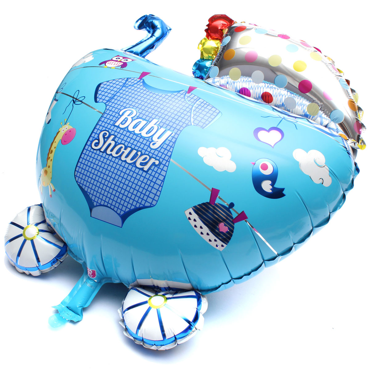 5pcs set baby boy shower balls birthday helium foil. Black Bedroom Furniture Sets. Home Design Ideas