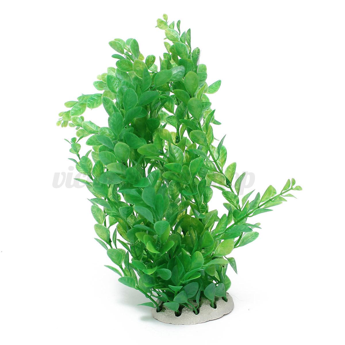41 ornament artificial plastic water plants fish tank for Vendeur aquarium