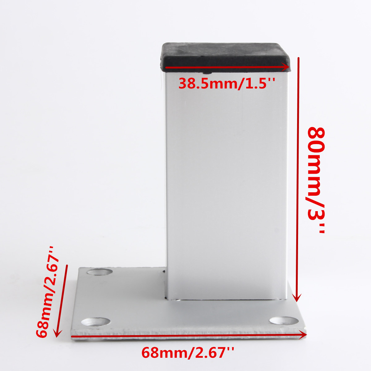 1x Metal Leg Square Aluminum For Furniture Table Cabinet Feet Stand New Ebay