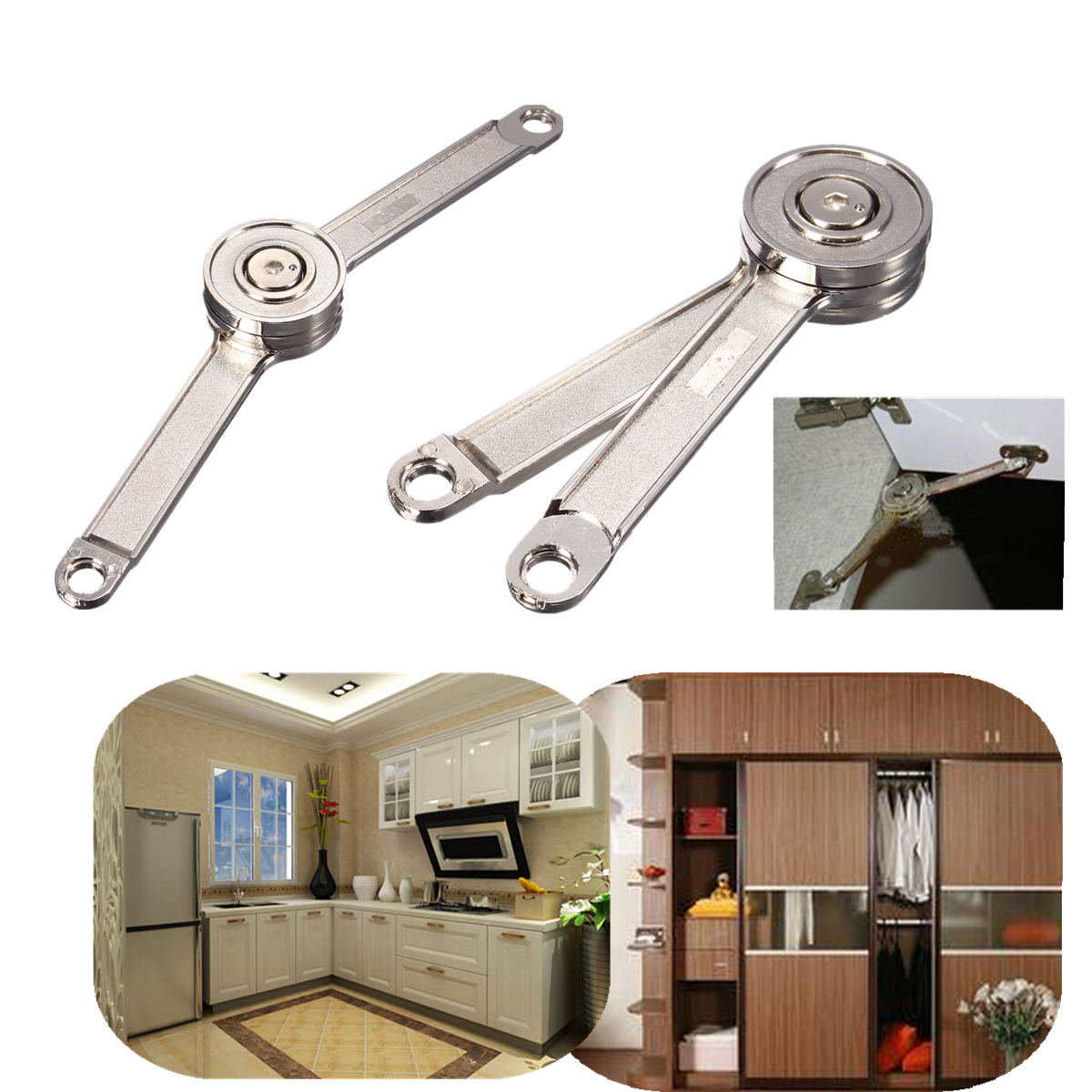 Door Stays Kitchen Cupboard Cabinet Support Toy Box Hinge