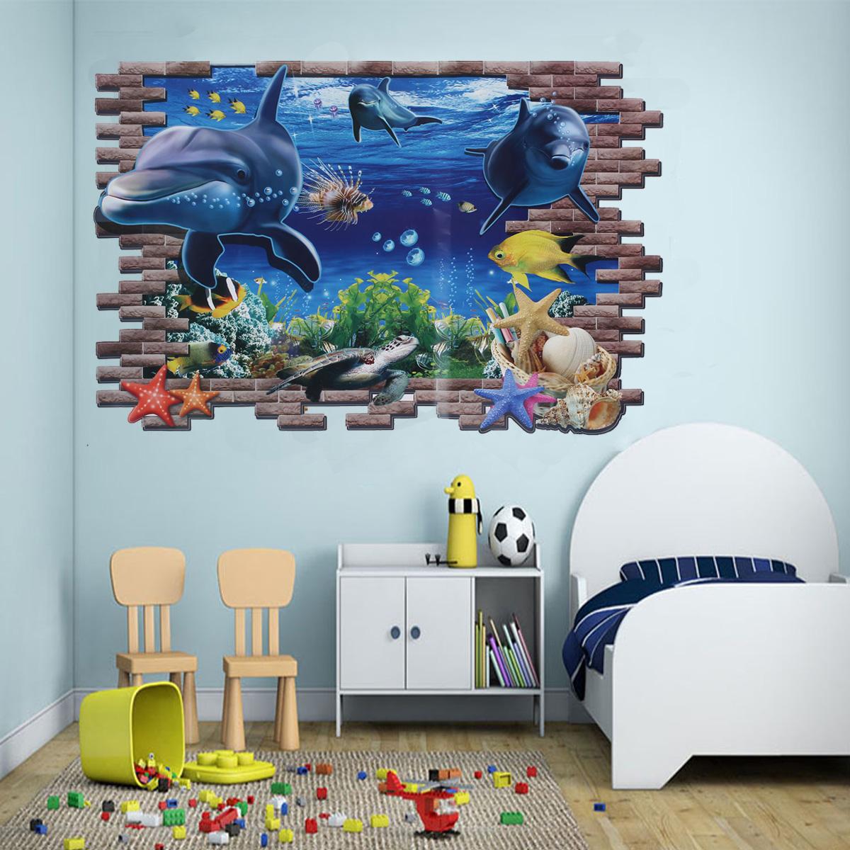 Good ... WANDTATTOO Fisch Delfine Ozean Meer Wanddekoration Vinyl Aufkleber