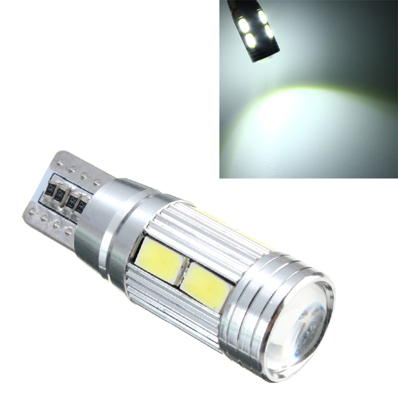 t10 w5w 5630smd 10 led xenon lens error free canbus. Black Bedroom Furniture Sets. Home Design Ideas
