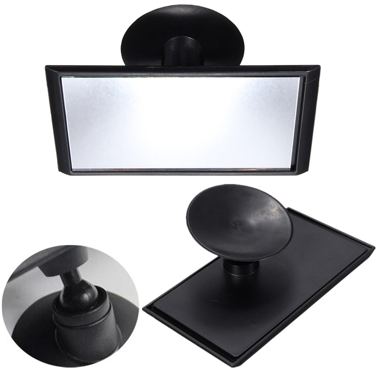 universal car adjustable interior blind spot rearview suction windscreen mirror ebay. Black Bedroom Furniture Sets. Home Design Ideas