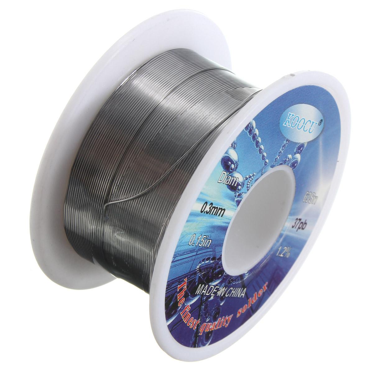 0.3~1.0mm 63/37 Tin Solder Welding Iron Wire Lead Rosin Core Flux Reel 1.2%