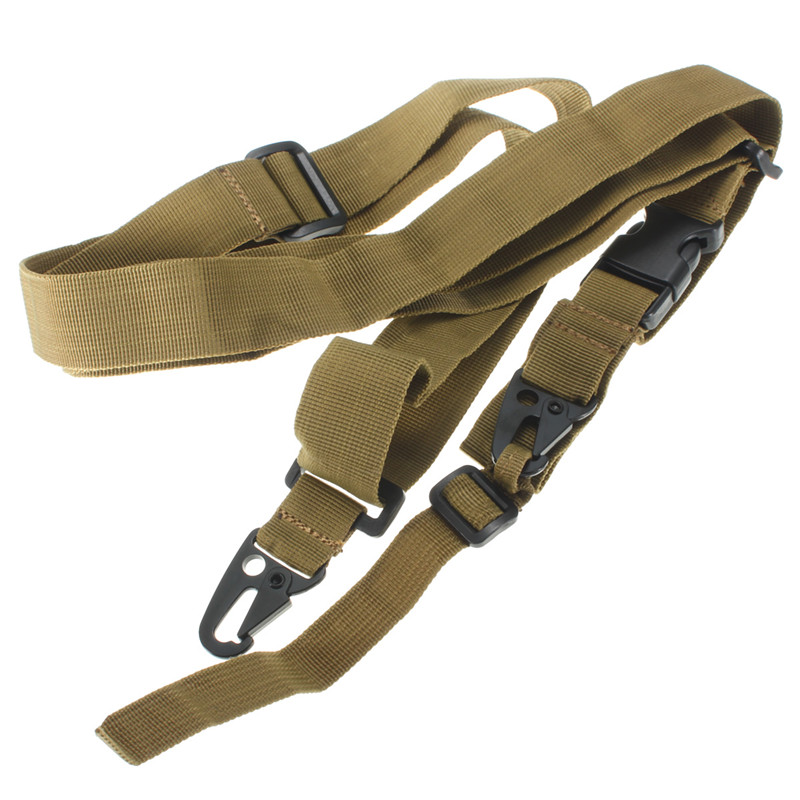 2 Point Shoulder Rifle Gun Sling Strap Hunting Tactical Airsoft Bungee Belt Rope