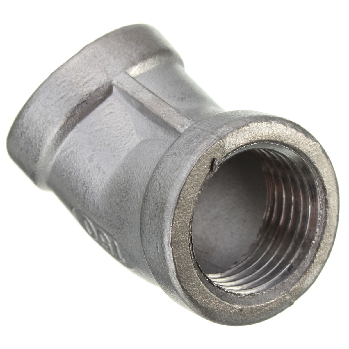 Female bsp angle stainless steel street elbow