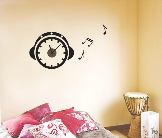 Cute Wall Decor For Living Room : Modern cute diy wall clocks pvc sticker home living room