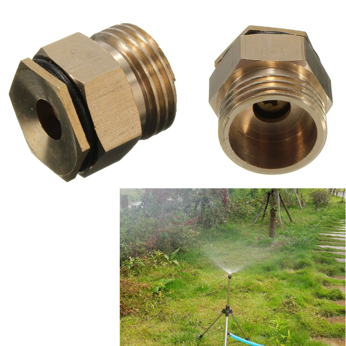 Quot male thread brass irrigation mist spray nozzle parts