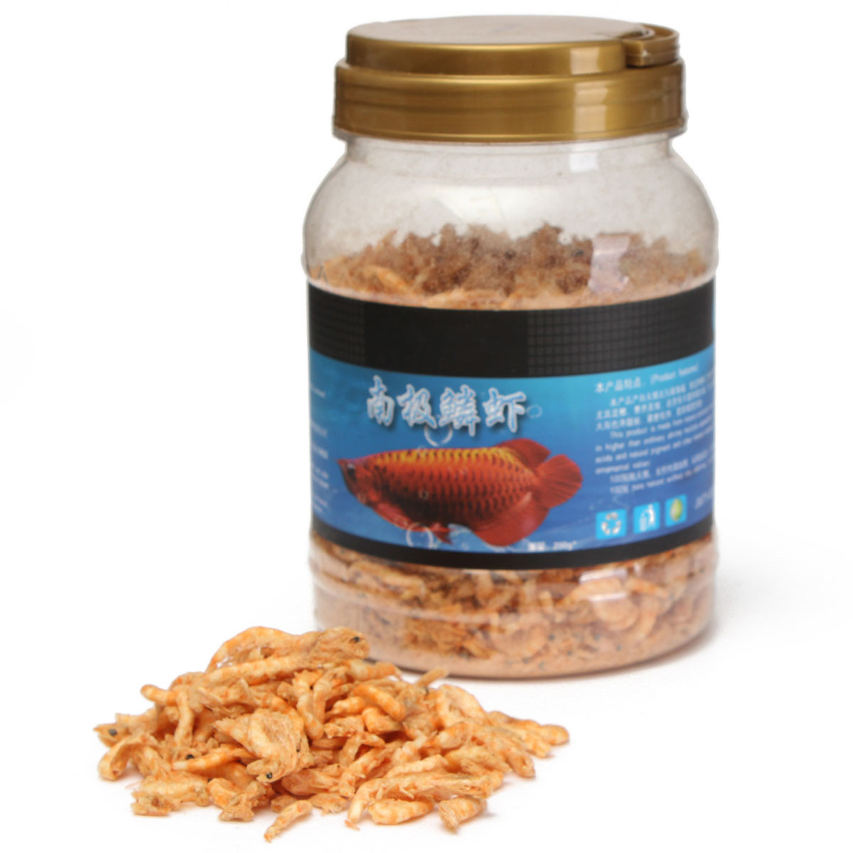 200g aquarium krill freeze dried bulk aquarium tropical for Pond fish food