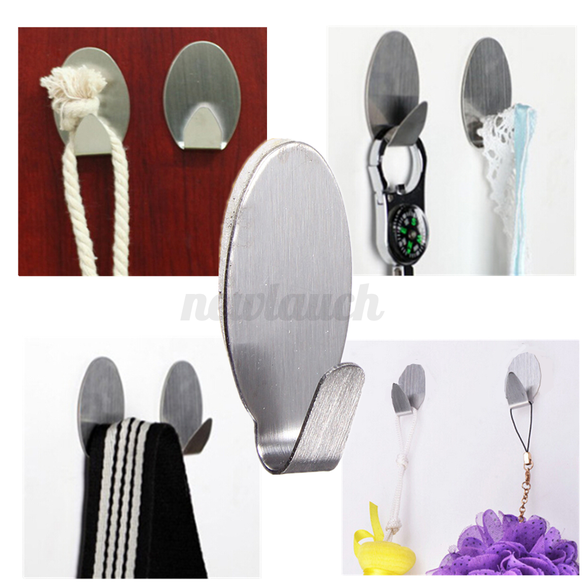 60-X-Adhesive-Stainless-Steel-Cabinet-Towel-Racks-Wall-Hook-for-Kitchen-Bathroom
