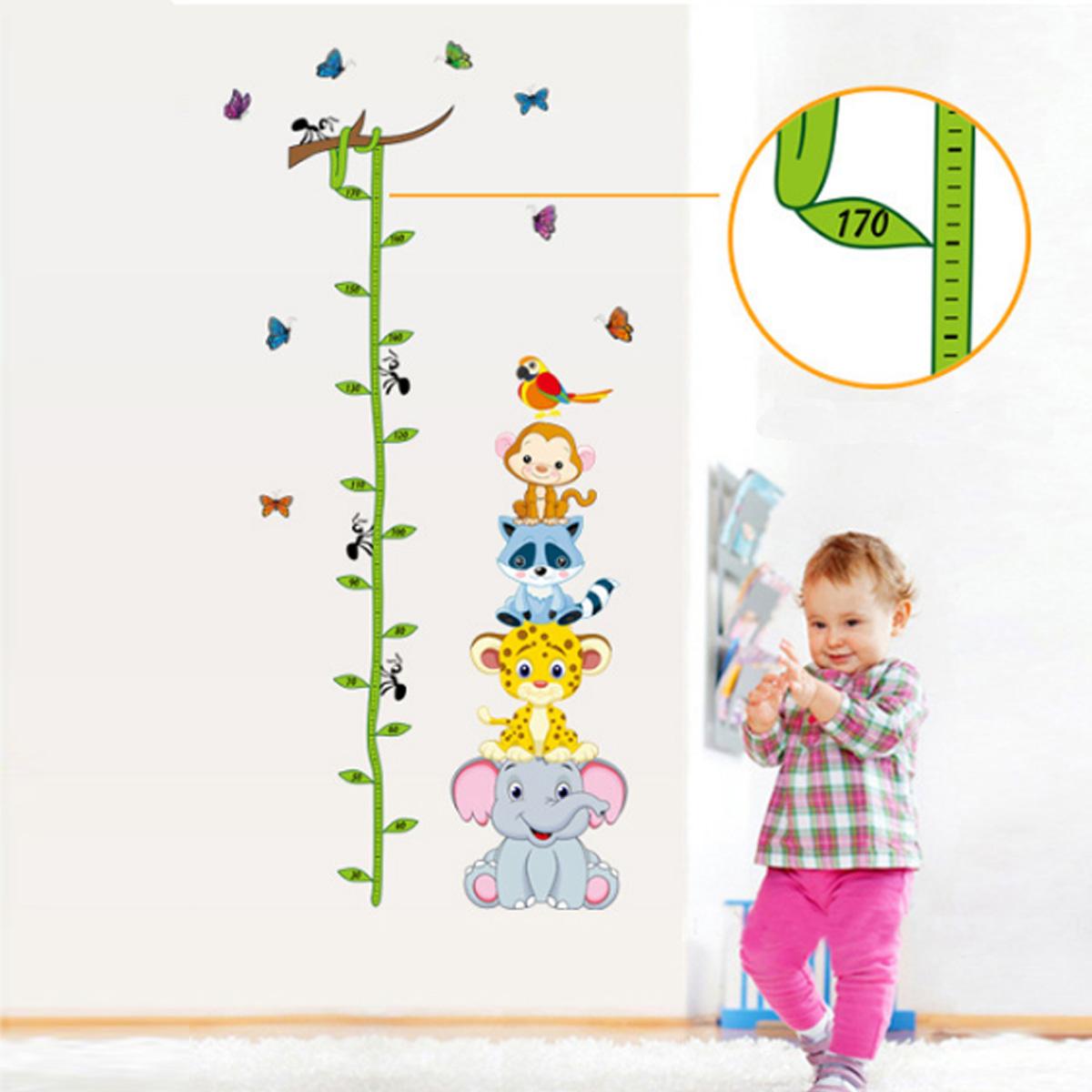 cartoon animals children kids growth height measure chart wall cartoon animals children kids growth height measure chart