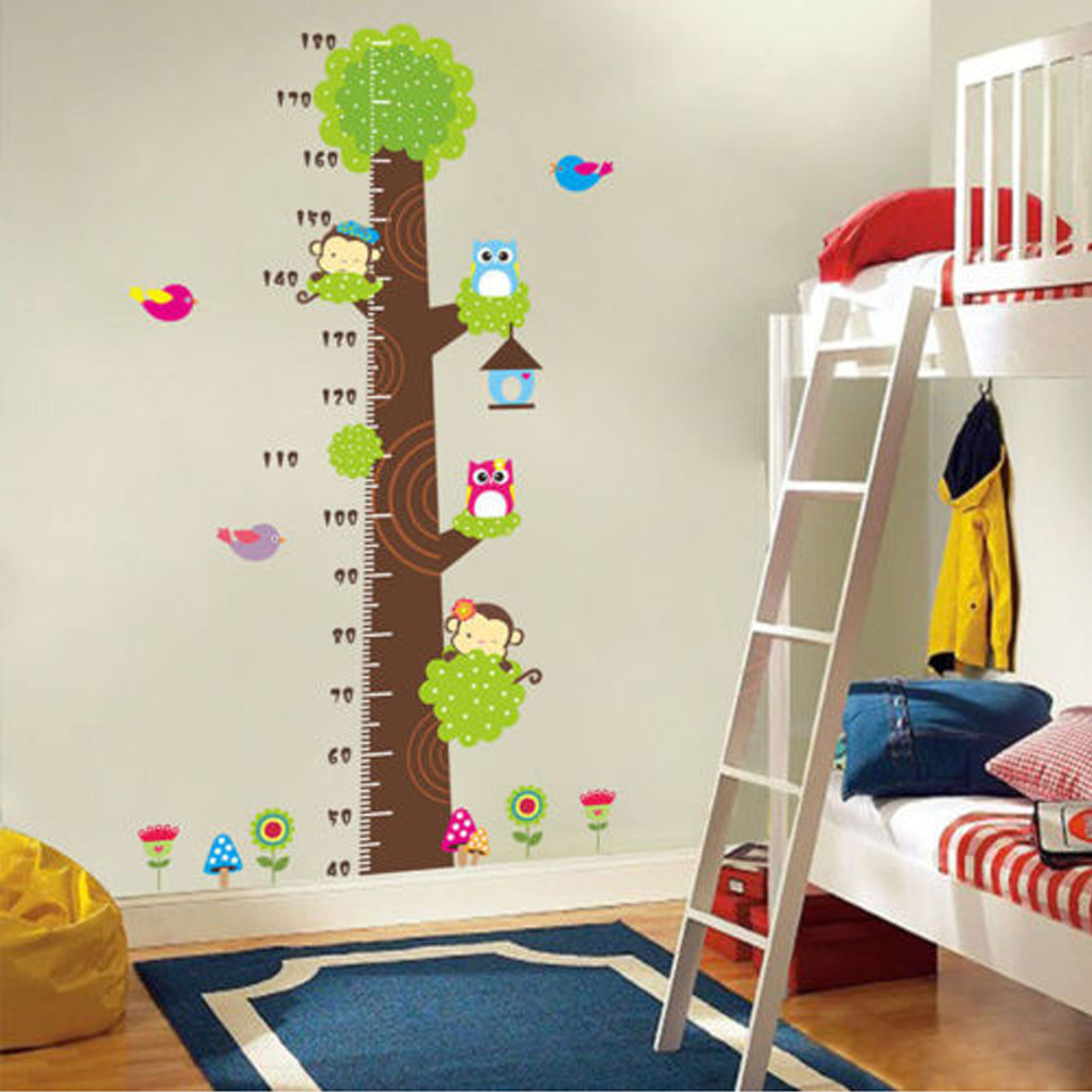 Cartoon Animals Children Kids Growth Height Measure Chart