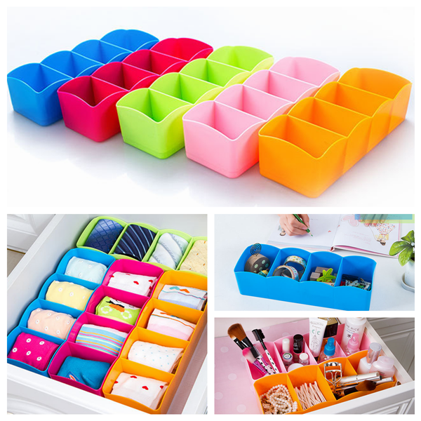 closet drawer organizer storage divider box case tie bra socks cosmetic medicine ebay. Black Bedroom Furniture Sets. Home Design Ideas