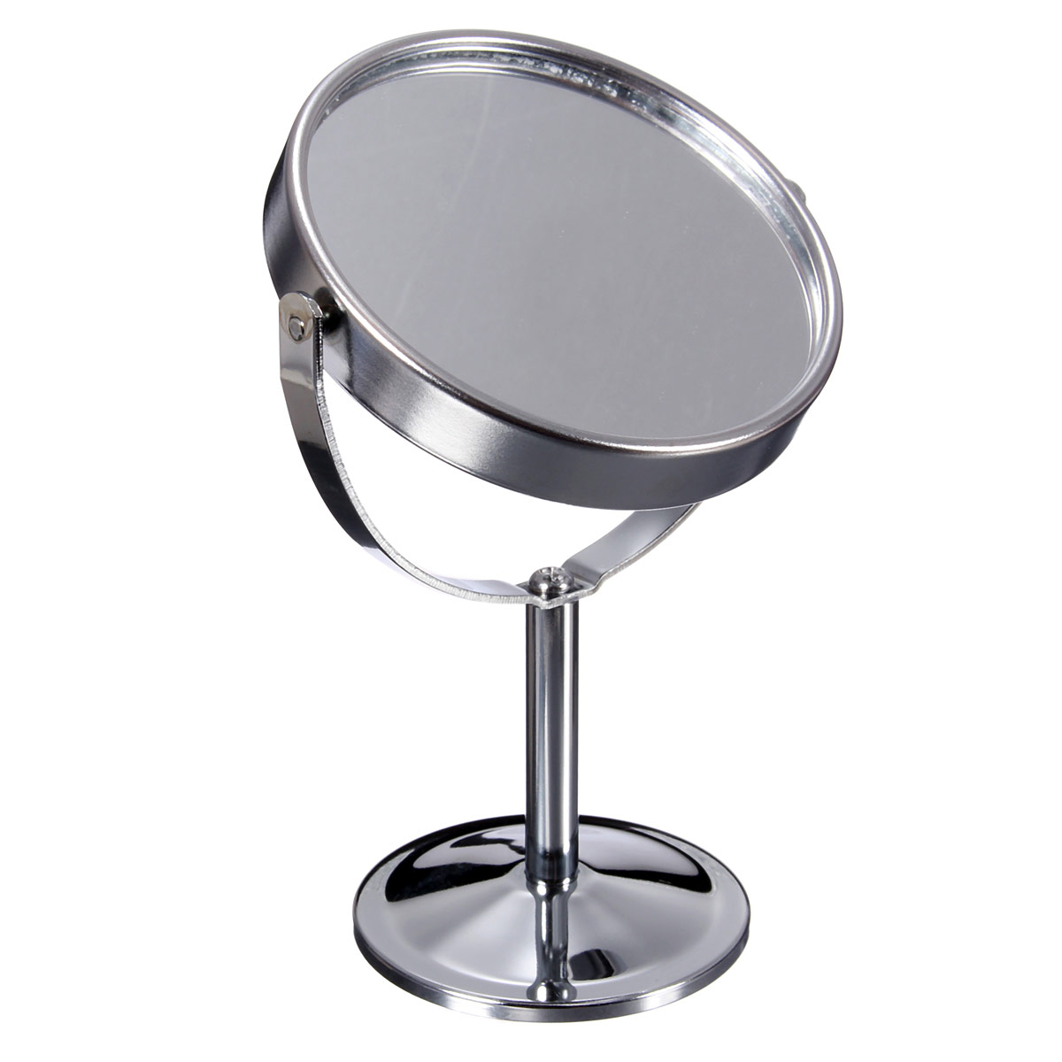 Double sided round magnifying bathroom make up cosmetic for Shaving mirror