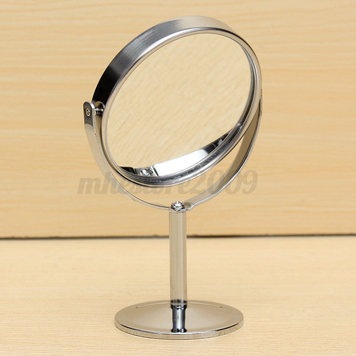 New Double Sided Chrome Round Magnifying Cosmetic Shaving