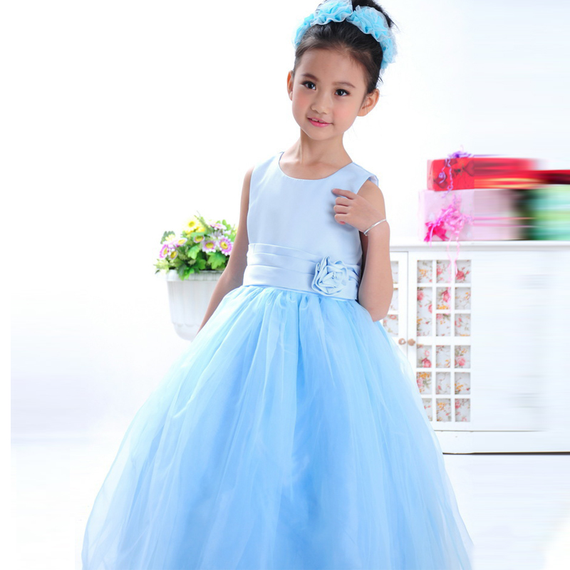 5Colors Girls Baby Party/Princess/Christening Birthday Flower Bridesmaid Dresses