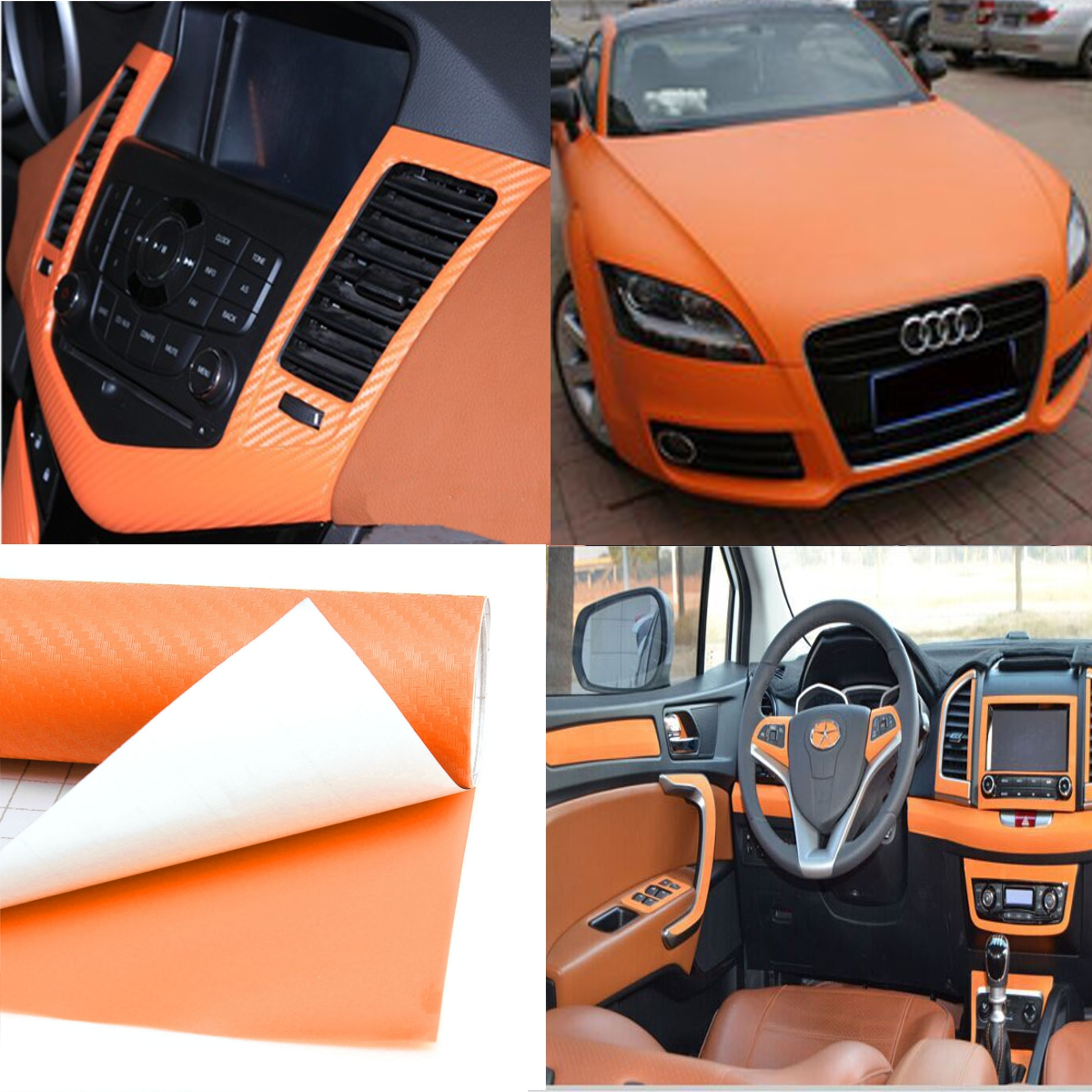 Car carbon sticker design - 200x30cm Diy 3d Carbon Fiber Vinyl Wrap Roll