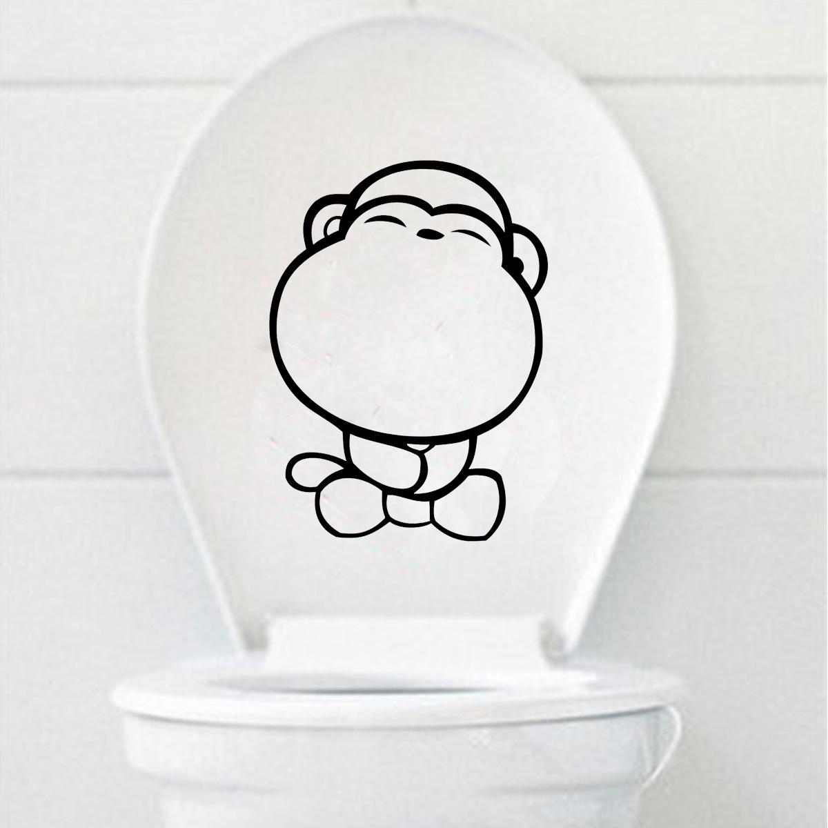 wandtattoo aufkleber wc klo deckel toilette bad t r. Black Bedroom Furniture Sets. Home Design Ideas