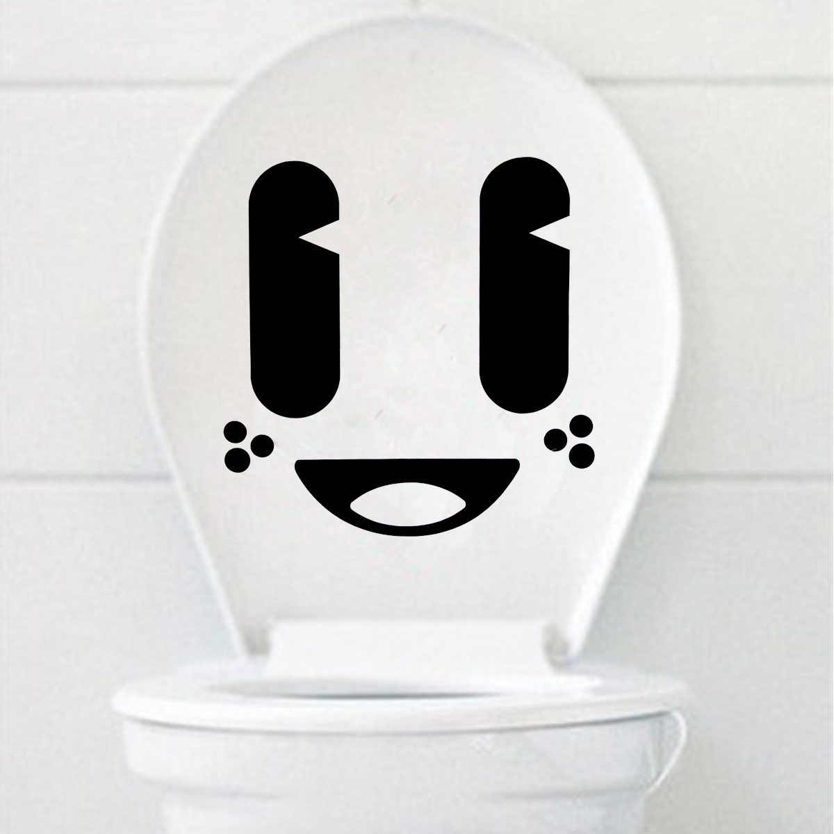 funny cartoon smile cry face toilet seat stickers bathroom. Black Bedroom Furniture Sets. Home Design Ideas
