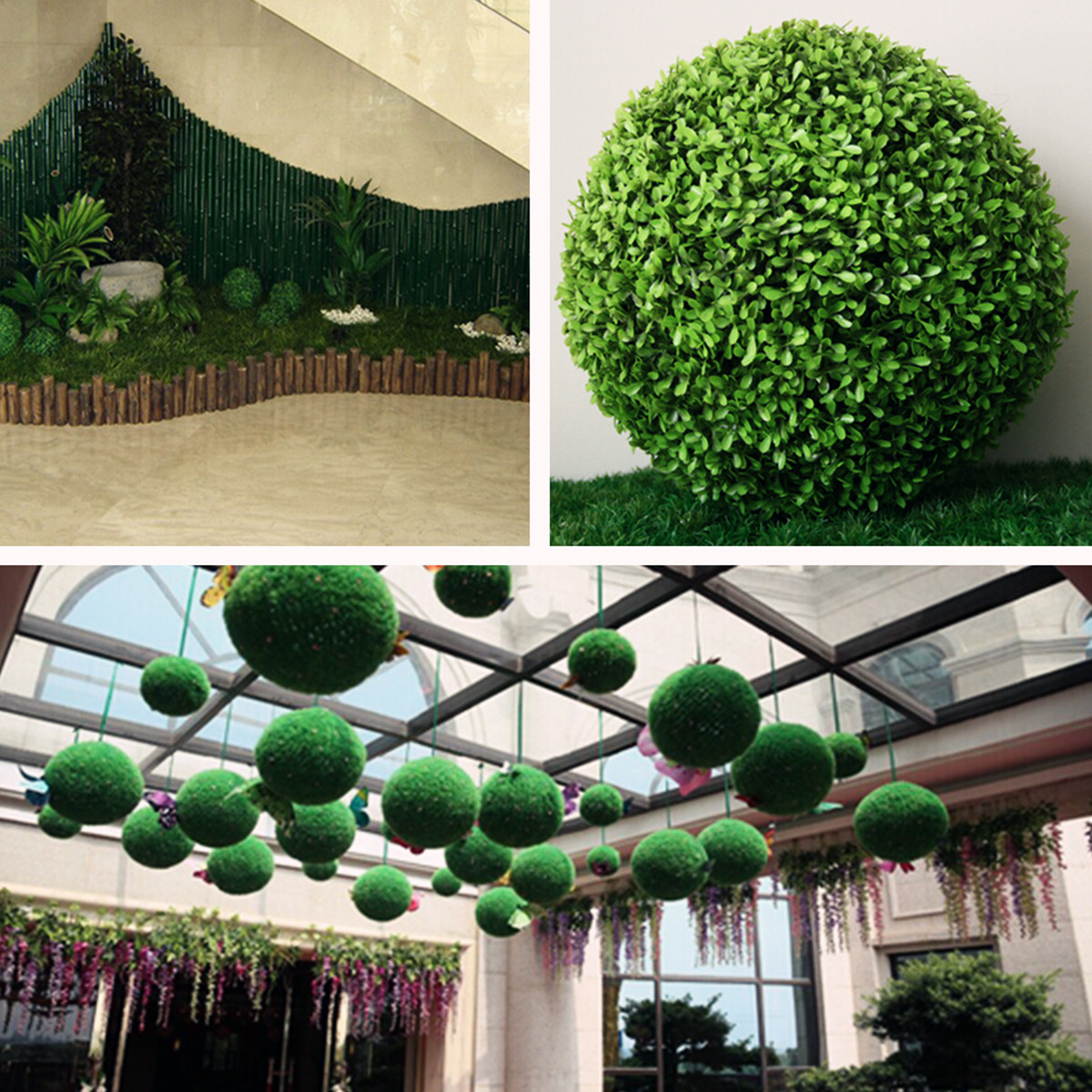25cm/28/35cm Conifer Topiary Ball Tree Boxwood Wedding Event Home ...