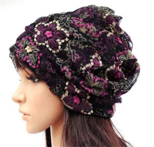 Women Lady Winter Chemo Bandana Beanie Turban Head Wrap Band Lace Hat Warm Cap