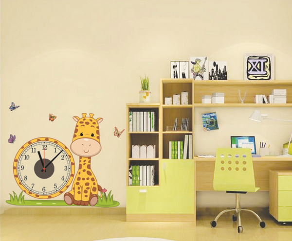 Modern Cute DIY Wall Clocks PVC Sticker Home Living Room