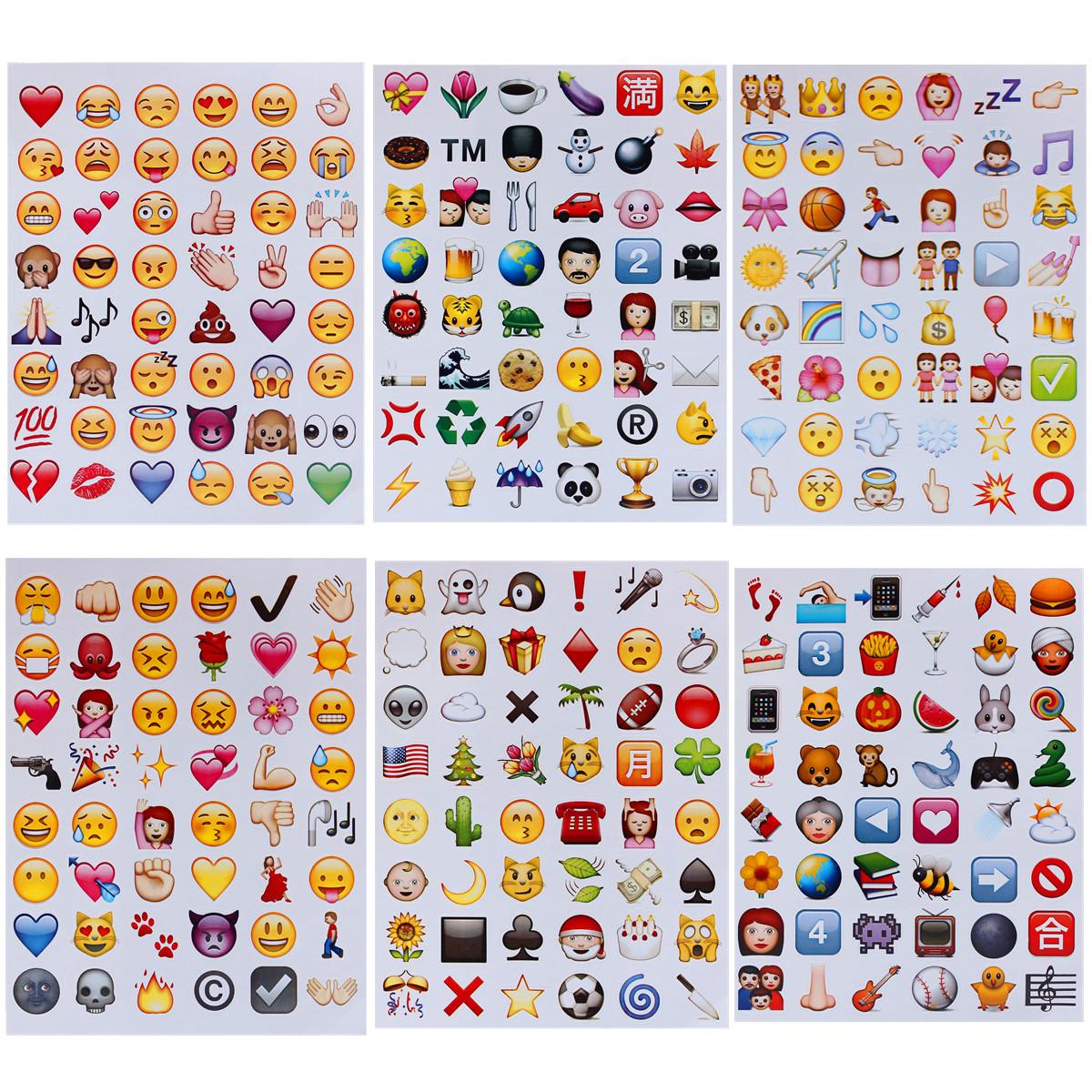 Case Design neoprene cell phone case : Details about Emoji Sticker Pack 288 Die Cut Sticker For Cell Phone