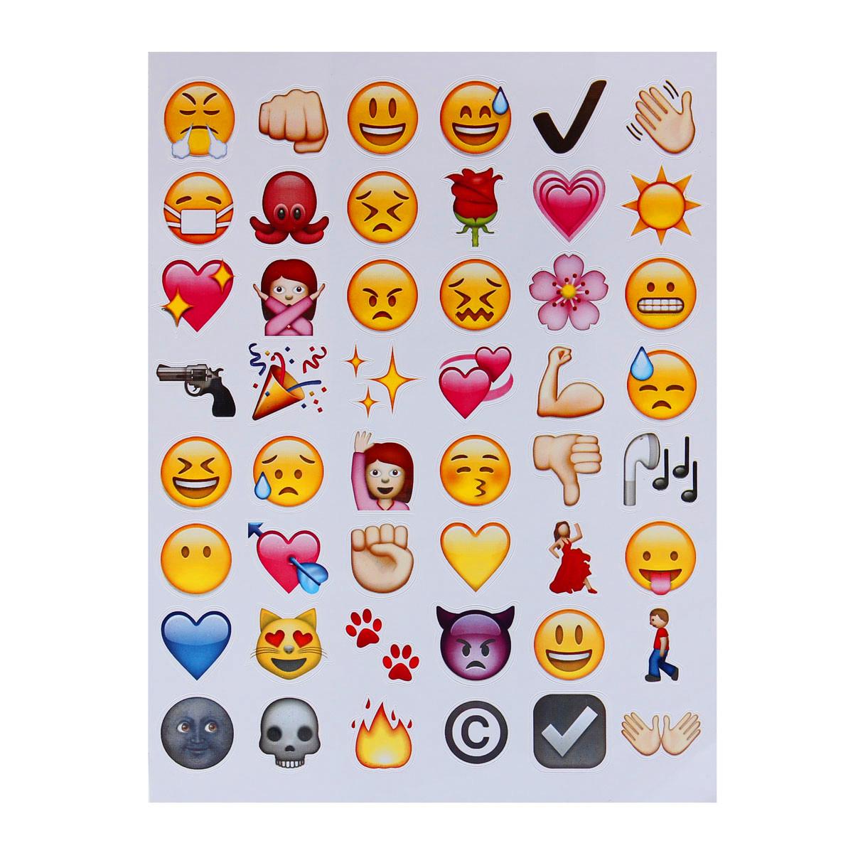 6 st ck scrapbooking sticker emoji gesicht stickers aufkleber f r handy laptop ebay. Black Bedroom Furniture Sets. Home Design Ideas