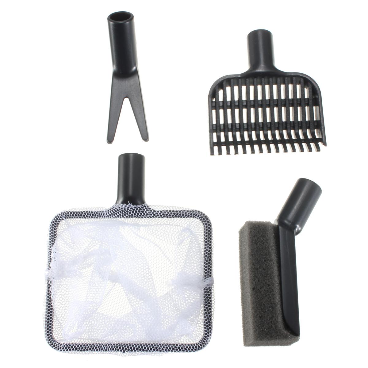 4 in1 aquarium fish tank clean tool fork gravel rake for Fish cleaning tools