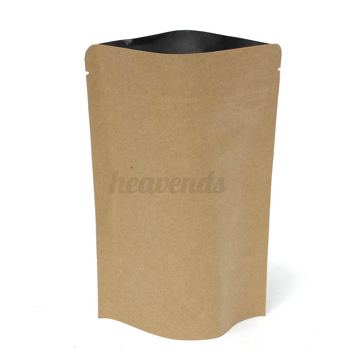 sac ziplock cadeau alimentaire papier kraft seal poche pochette tanches sachet. Black Bedroom Furniture Sets. Home Design Ideas