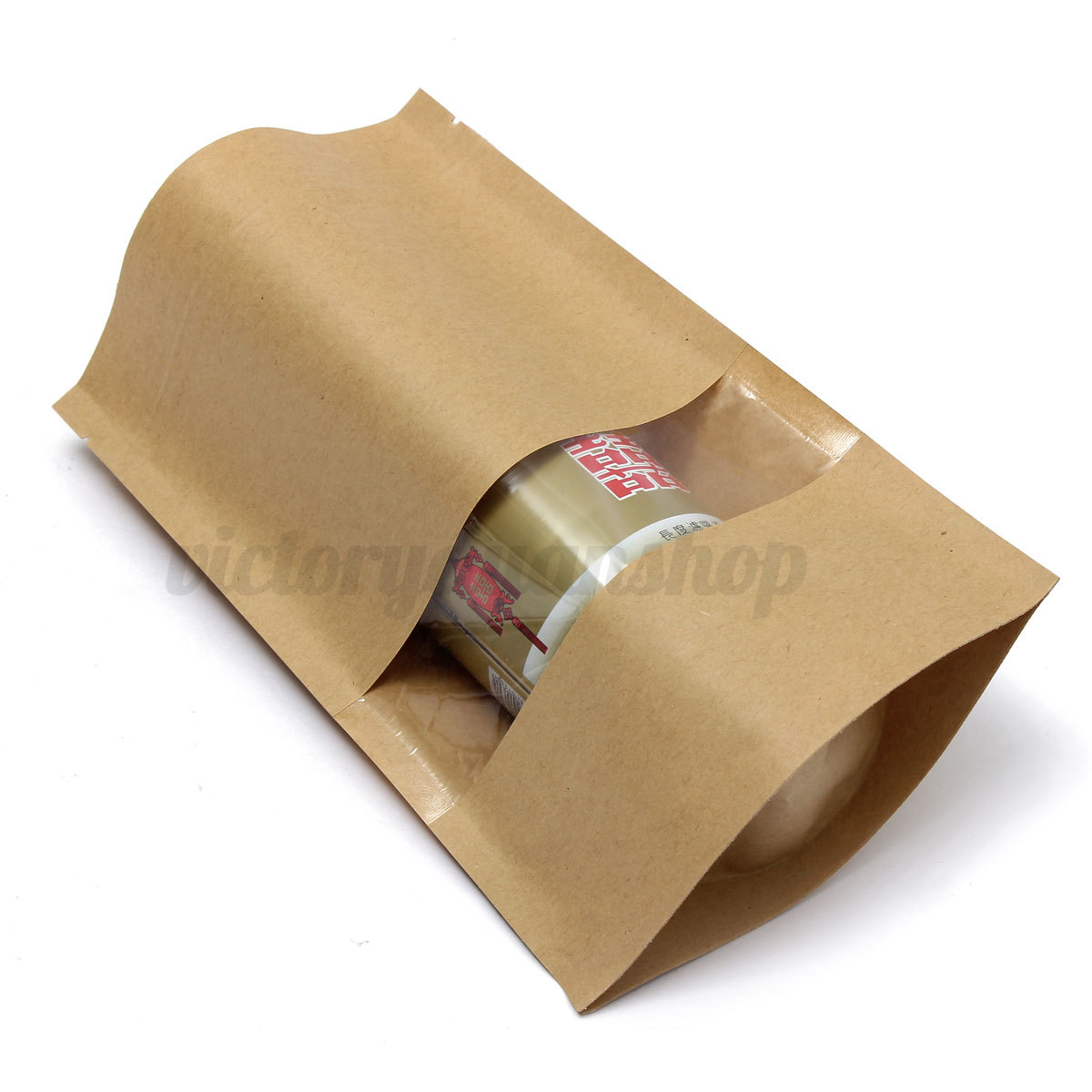 1 10 100x sac ziplock papier kraft seal sachet poche pochette alimentaire cadeau ebay. Black Bedroom Furniture Sets. Home Design Ideas