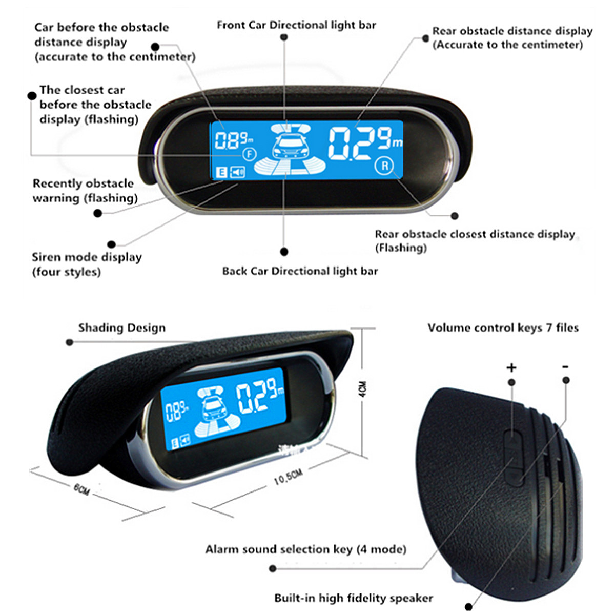Vehicle Parking Sensors Car Reverse Parking Backup Radar 8