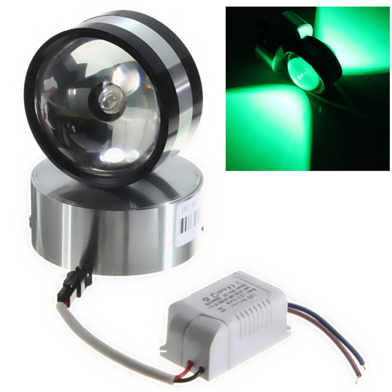 Neuf 2w led aluminium lampe applique murale spot d co for Applique murale exterieur ebay