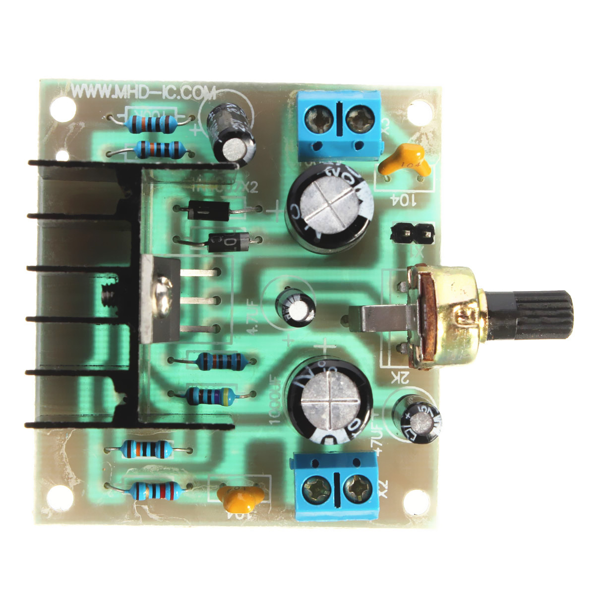 tda2030a音频功率放大器pcb板diy
