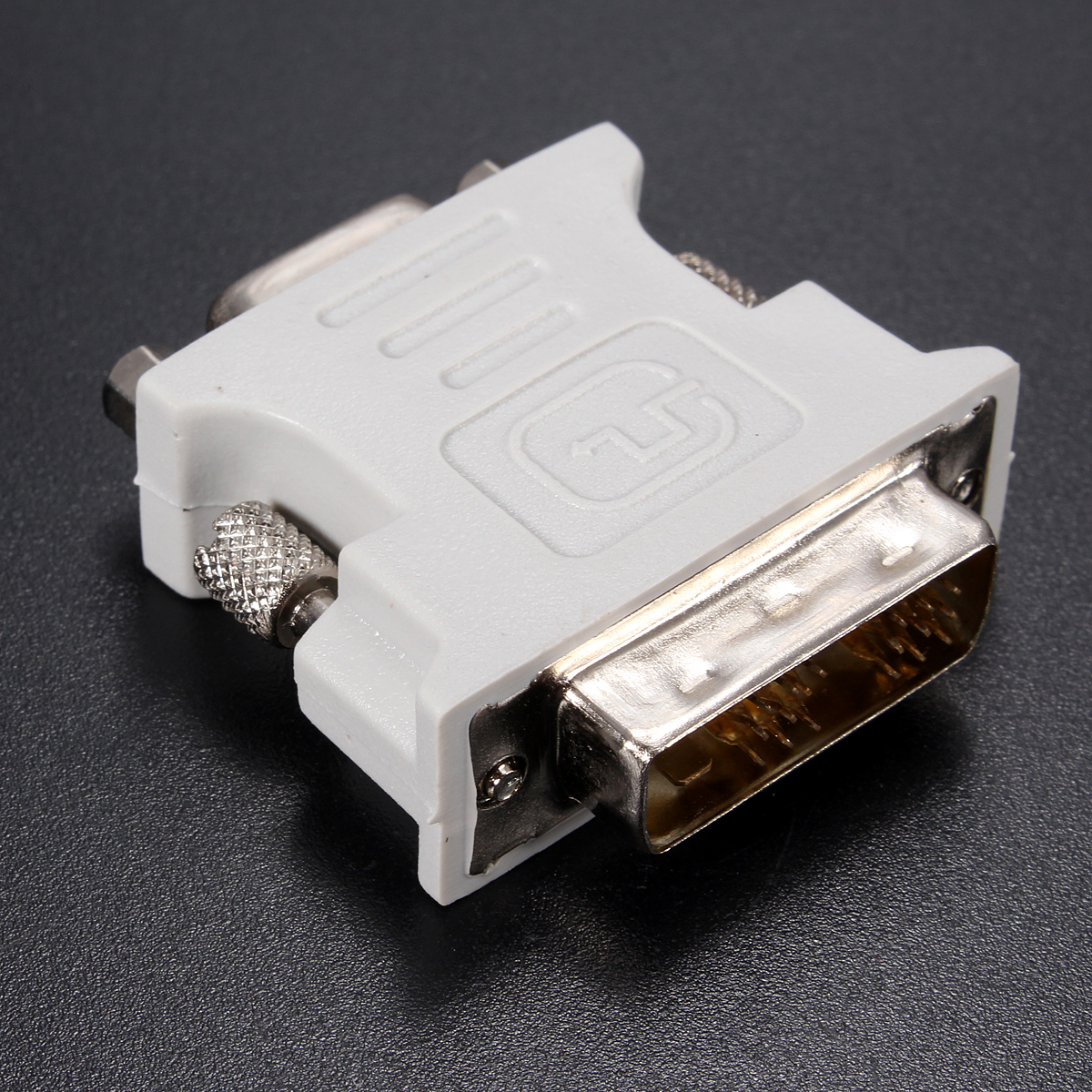DVI-D (18+1) Dual Link Male To VGA 15 Pin Female Adapter