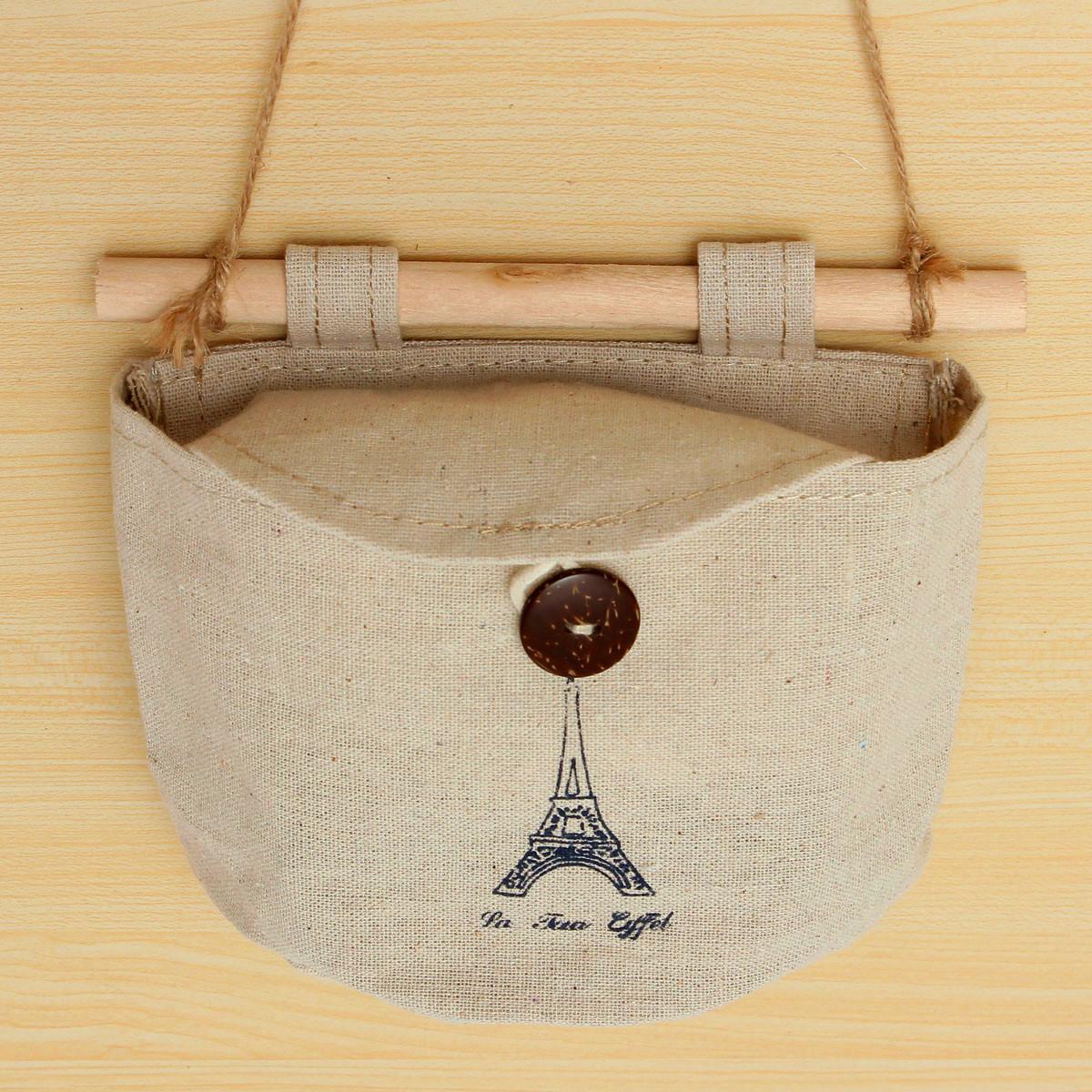Linen Hanging Bag Pockets Wall Door Storage Organizer