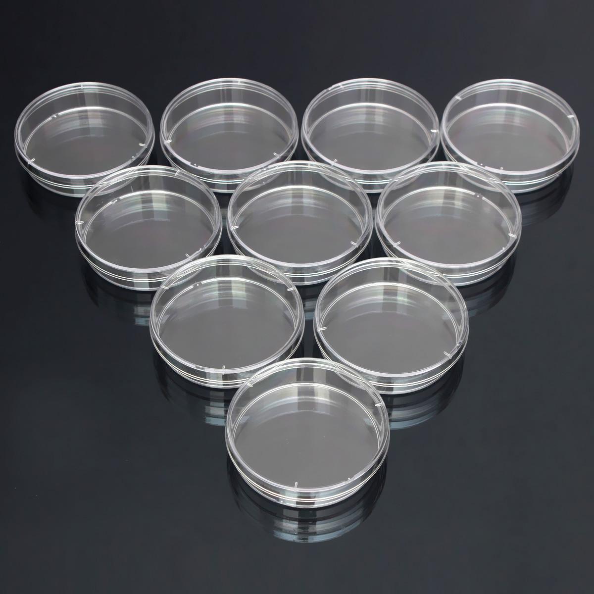 10 pcs 55mmx15 mm Bacteria Culture Dish Disposable ...