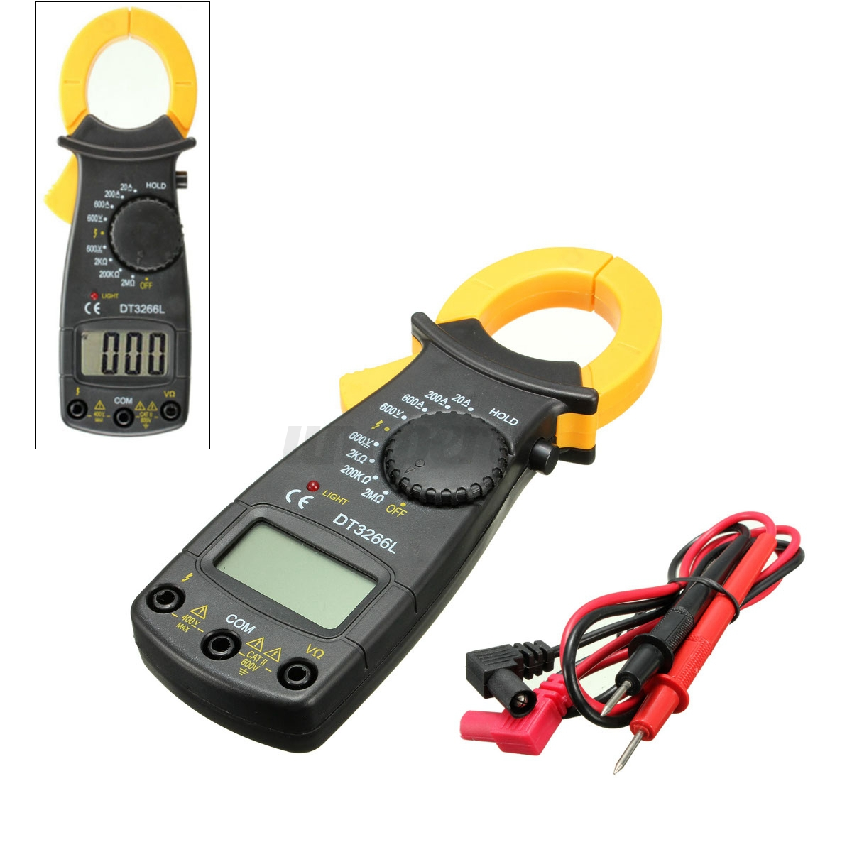 Electronic Voltage Tester For A Refrigerator : Digital lcd electronic ac dc clamp meter multimeter