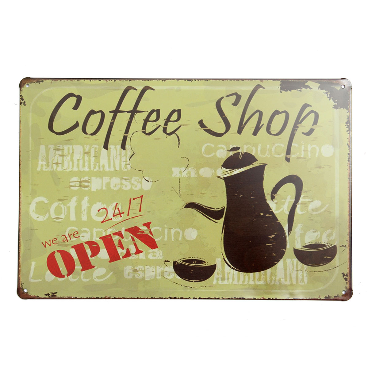 20x30cm Retro Metal Tin Sign Plaque Food Wall Poster Wall Decor Bar ...
