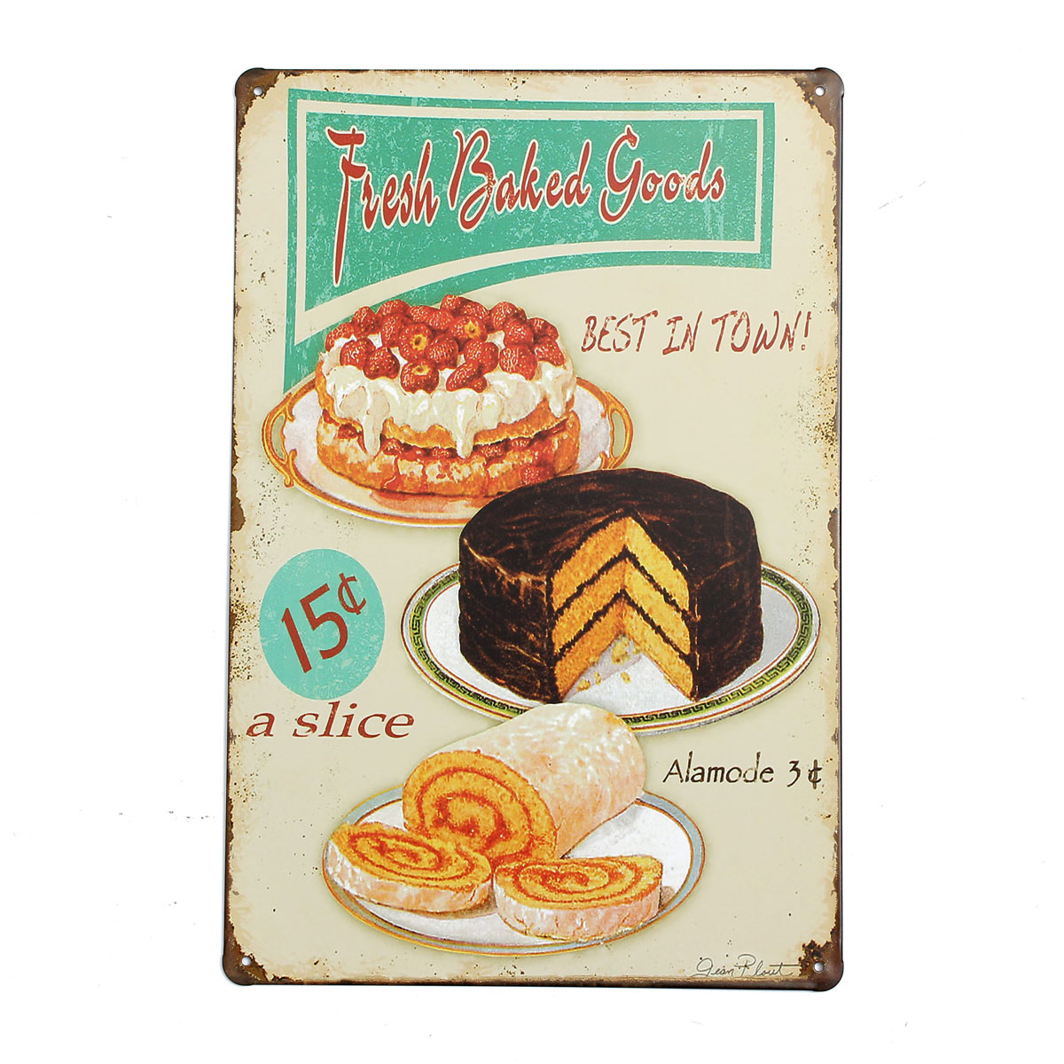 20x30cm retro metal tin sign plaque food wall poster wall for Decoration retro cuisine