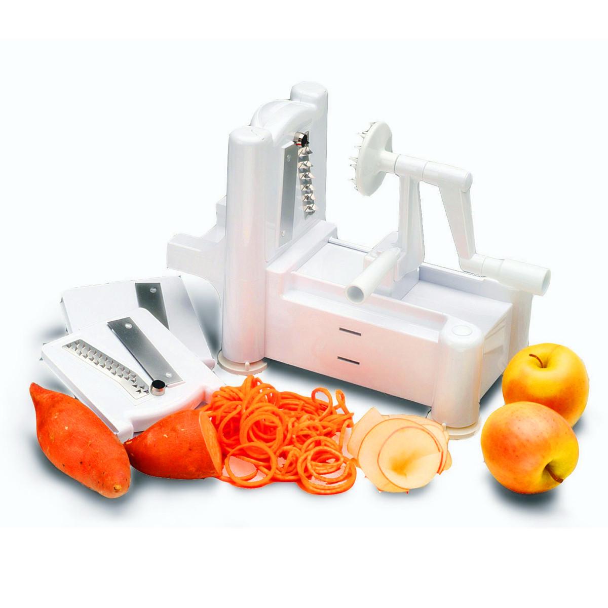 3In1 Spiral Slicer Spiralizer Vegetable Fruit Chopper ...