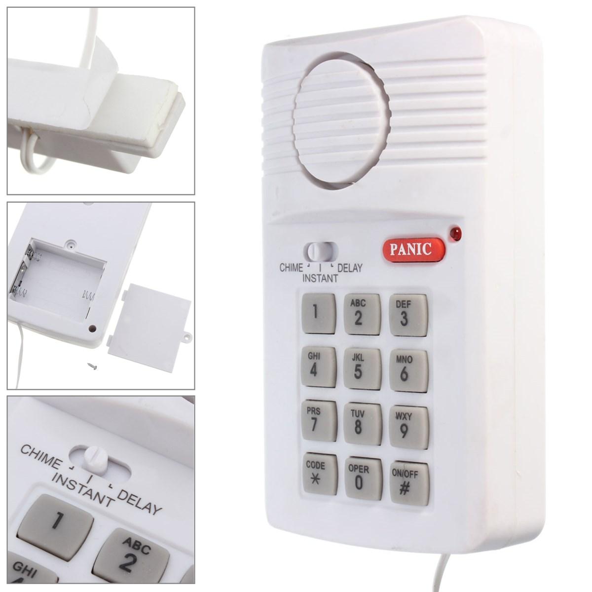 Sistema de alarma de puerta teclado de seguridad con bot n for Alarmas para el hogar