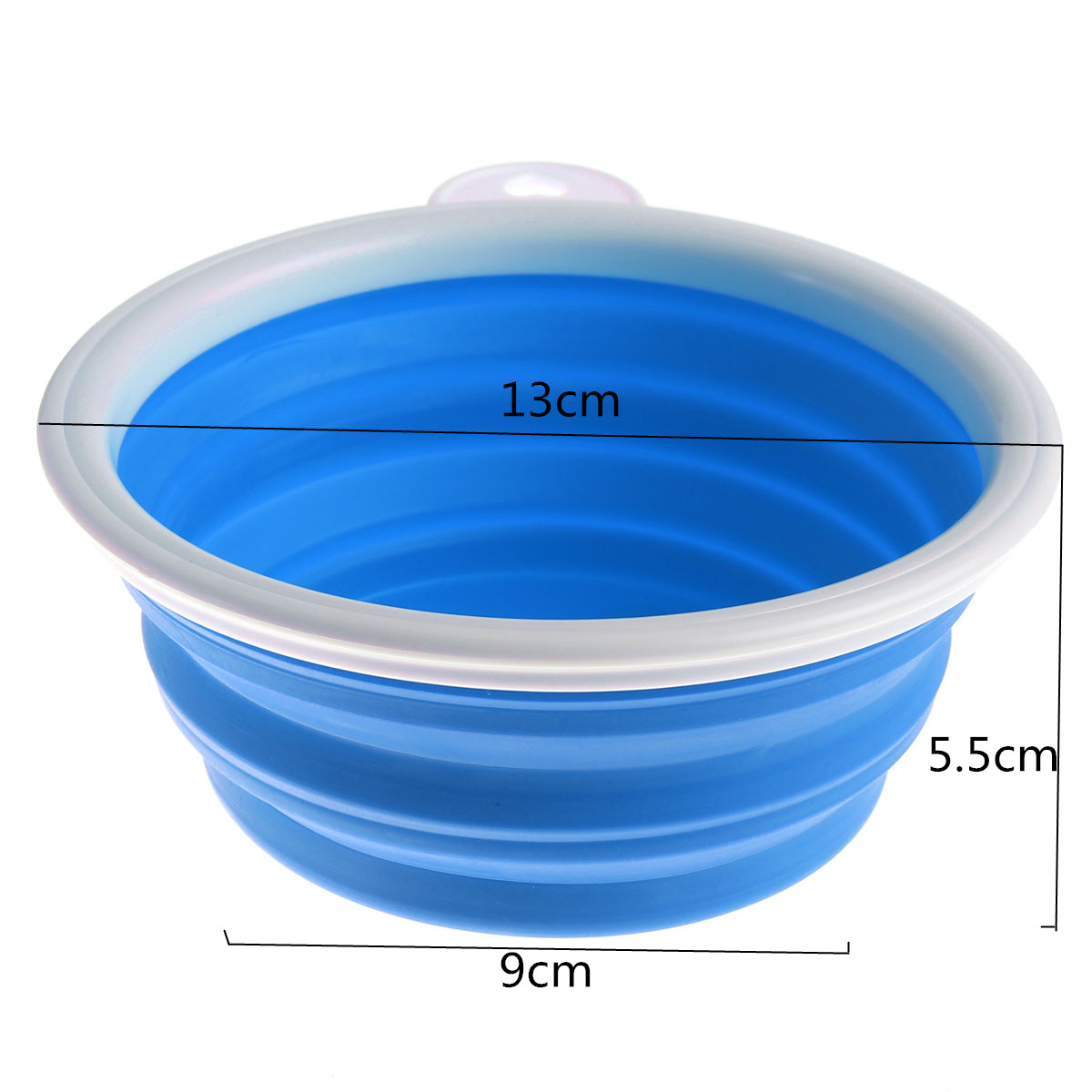 Collapsible Pet Dog Cat Folding Silicone Bowl Travel Water ...