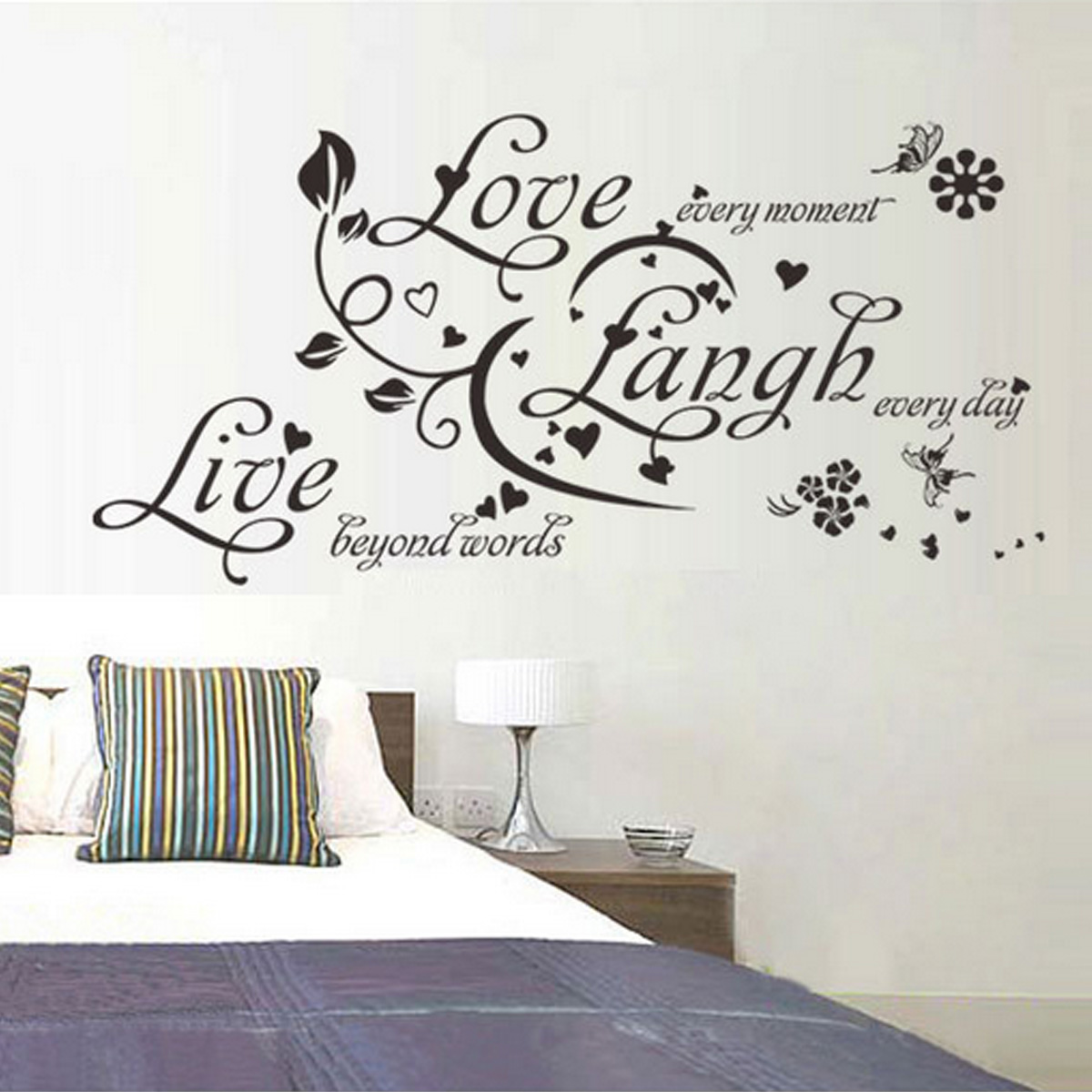 DIY Home Romantic Love Words Quote Wall Stickers Decals